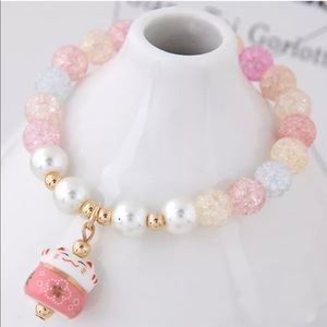 Cute Lucky Cat Bracelet with Ceramic Beads